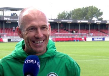 Arjen Robben terug op het trainingsveld
