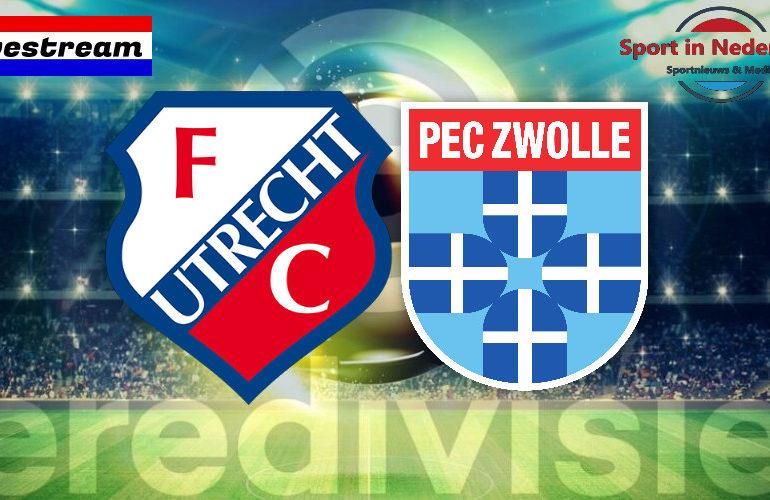 Eredivisie livestream FC Utrecht - PEC Zwolle