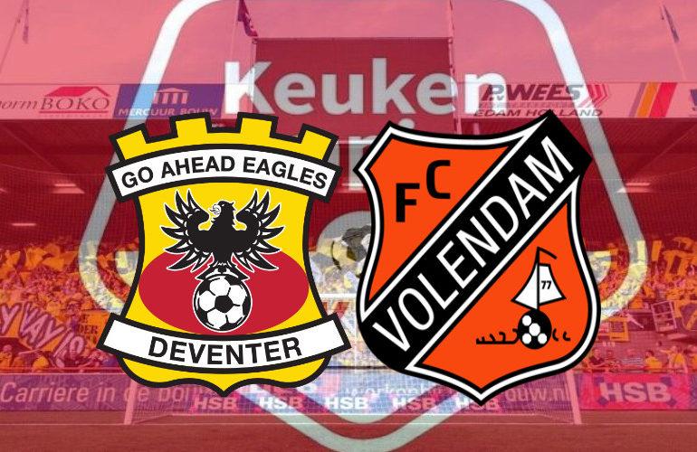 Go Ahead Eagles - FC Volendam dinsdagavond om 18.45 uur