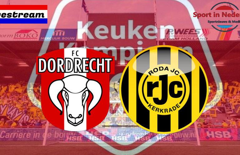 KKD livestream FC Dordrecht - Roda JC