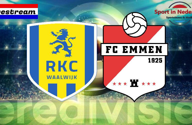 Eredivisie livestream RKC Waalwijk - FC Emmen