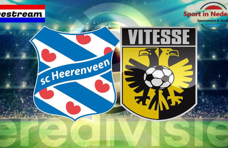 Eredivisie livestream SC Heerenveen - Vitesse