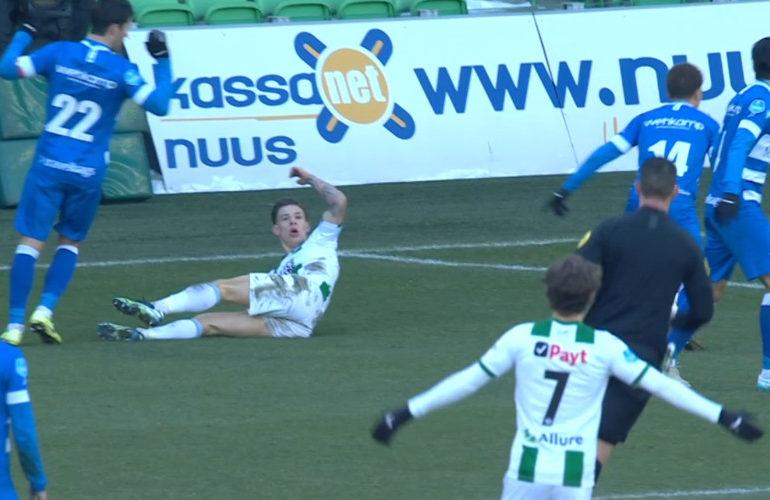 Larsen matchwinner bij FC Groningen - PEC Zwolle