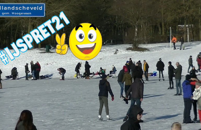 Winter in Nederland: Schaatsplezier 12-02-2021 (VIDEO)