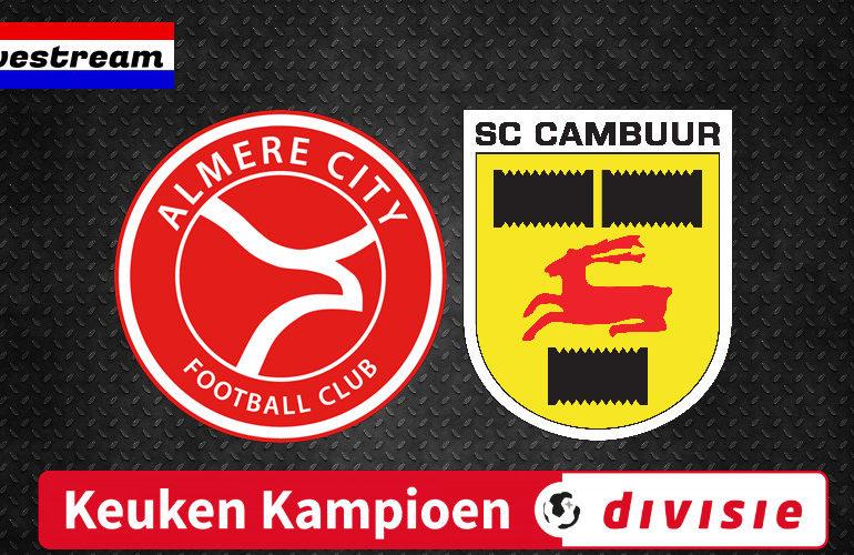 KKD livestream Almere City FC - SC Cambuur