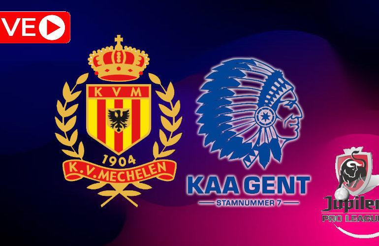 Livestream Jupiler Pro League KV Mechelen - KAA Gent