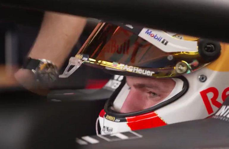 Eerste beelden van Verstappen in zijn RB16B (video)