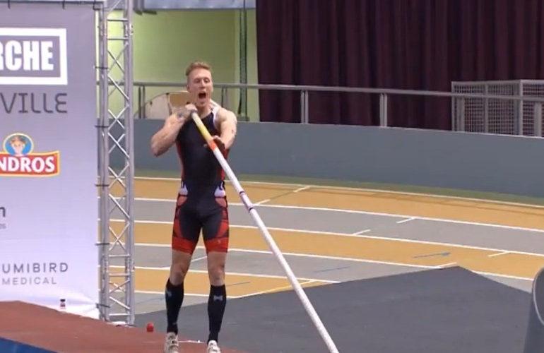 Polsstokhoogspringer Menno Vloon verpulvert Nederlands record