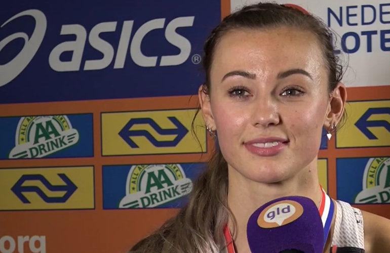 Nadine Visser loopt Nederlands record op 60 meter
