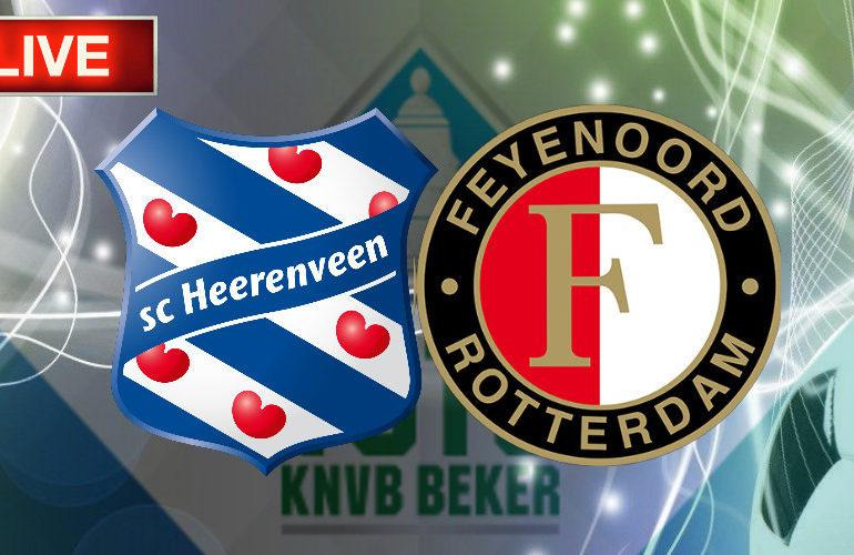 TOTO KNVB Beker livestream SC Heerenveen - Feyenoord