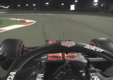 On board: Verstappen zijn snelste ronde in Bahrein