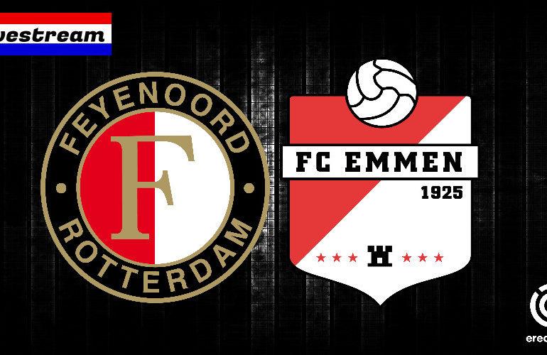 Kijk Feyenoord - FC Emmen hier gratis via een livestream