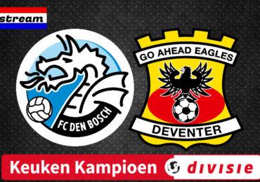 FC Den Bosch - Go Ahead Eagles gratis kijken via een livestream