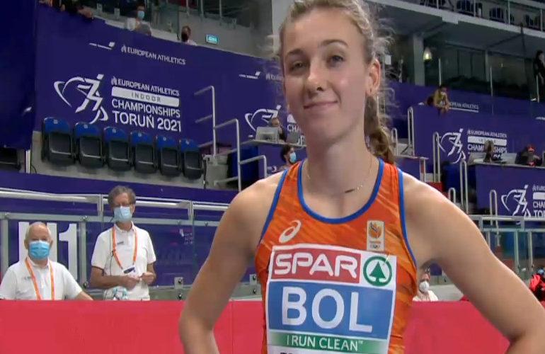 Femke Bol loopt nationaal record op 400 meter