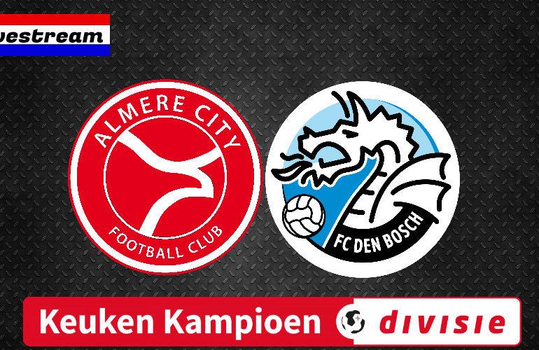 Gratis livestream Almere City FC - FC Den Bosch