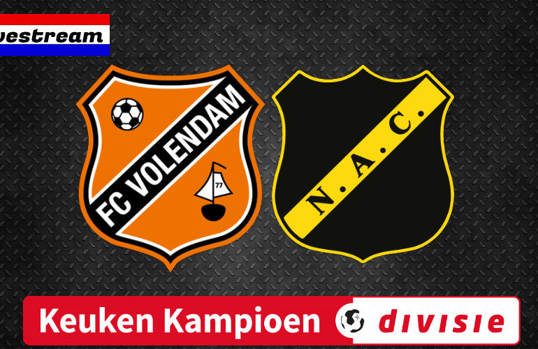Kijk hier gratis via de livestream FC Volendam - NAC Breda