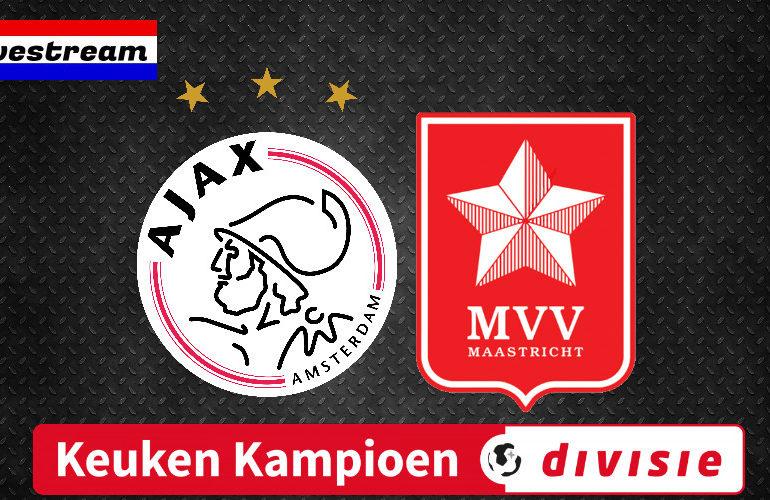Gratis voetbal livestream Jong Ajax - MVV Maastricht