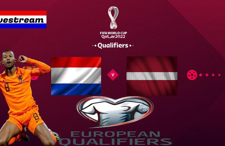 Livestream Nederland - Letland | WK-kwalificatie Qatar
