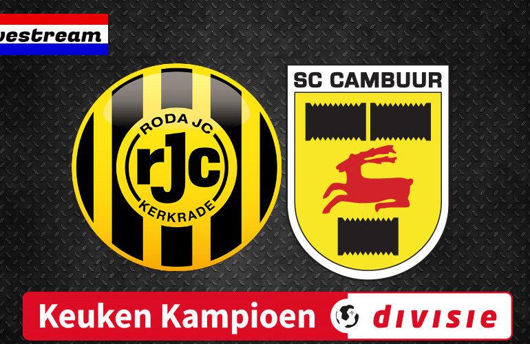 Roda JC - SC Cambuur kijken via een livestream