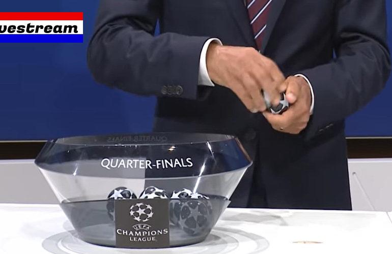 Livestream loting kwartfinale UEFA Champions League