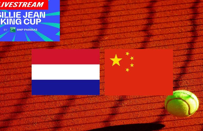 Billie Jean King Cup livestream Nederland - China