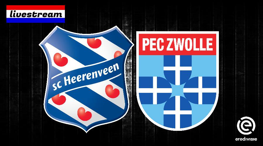 Eredivisie livestream SC Heerenveen - PEC Zwolle