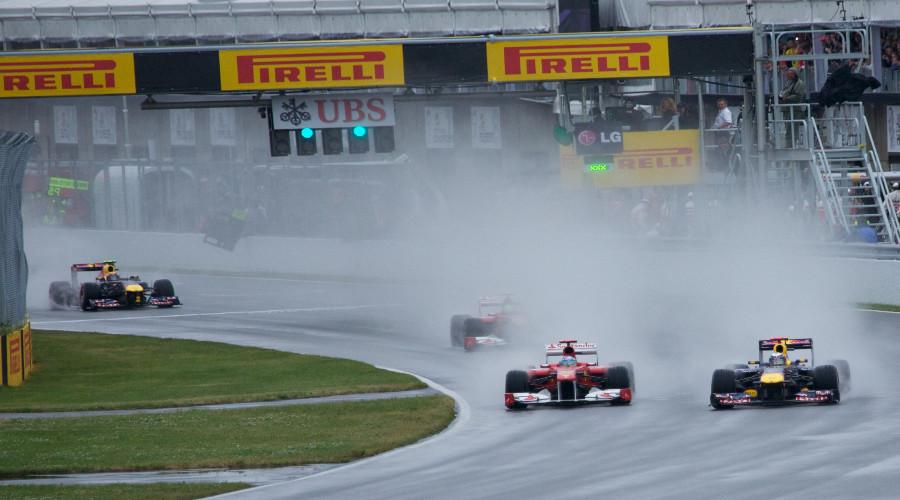 F1 regen (Foto Wikmedia Commons)