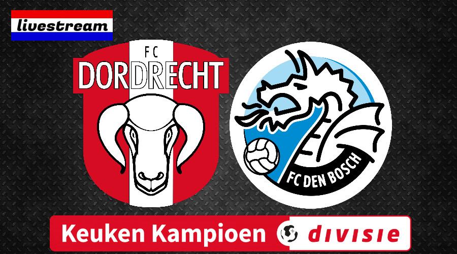 FC Dordrecht - FC Den Bosch Keuken Kampioen Divisie livestream