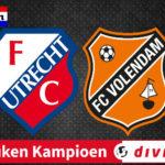 Jong FC Utrecht - FC Volendam Keuken Kampioen Divisie livestream