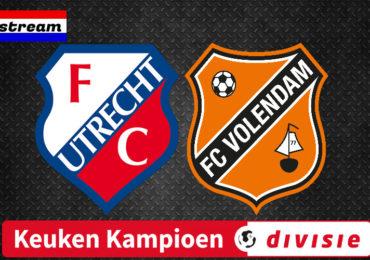 Jong FC Utrecht - FC Volendam | Keuken Kampioen Divisie | LIVESTREAM