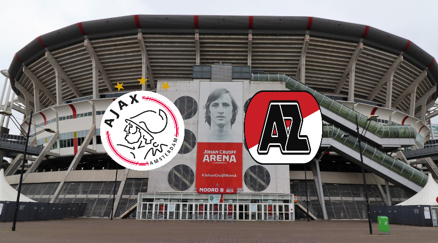 Kijk hier zondagmiddag Ajax - AZ via een live stream
