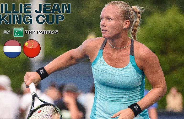 Billie Jean King Cup: Bertens opent tegen Xinyu