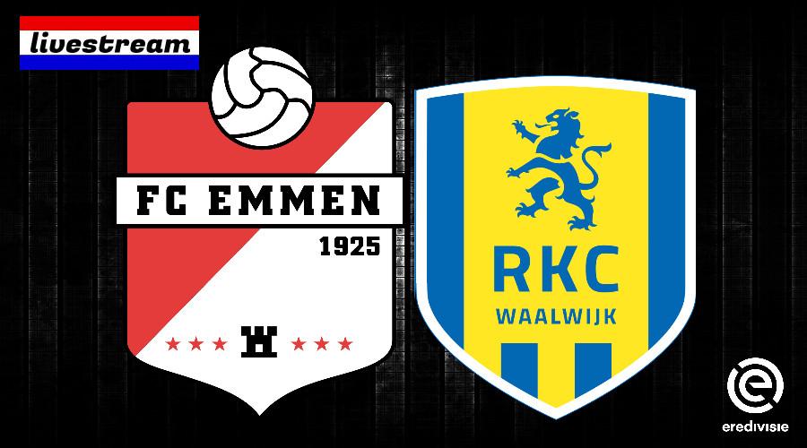 Livestream FC Emmen - RKC Waalwijk