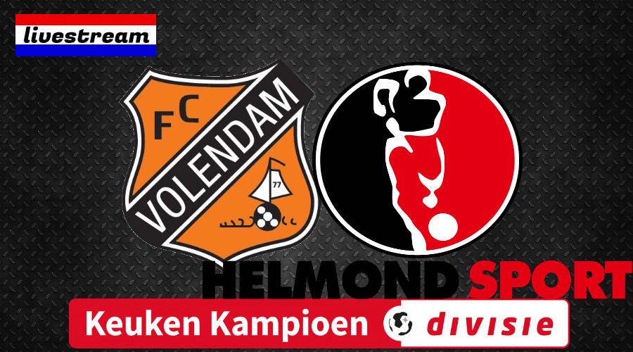 Livestream FC Volendam - Helmond Sport Keuken Kampioen Divisie