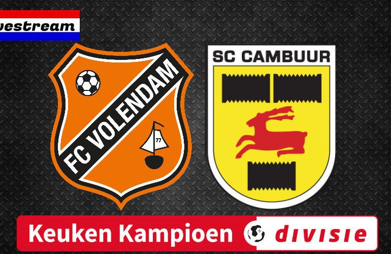 FC Volendam - SC Cambuur | Gratis voetbal livestream