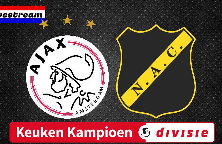 Jong Ajax - NAC Breda kijken via een gratis livestream