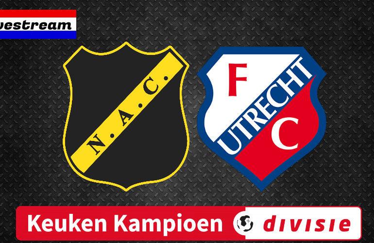 Livestream NAC - Jong FC Utrecht Keuken Kampioen Divisie