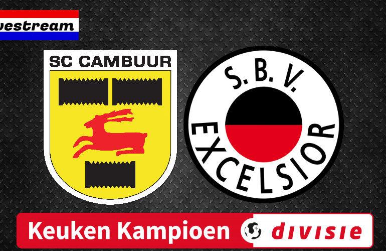 Cambuur - Excelsior gratis KKD voetbal livestream