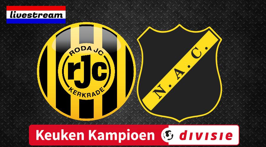 Roda JC - NAC Breda Keuken Kampioen Divisie livestream