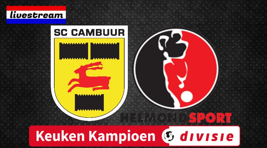 SC Cambuur - Helmond Sport Keuken Kampioen Divisie livestream