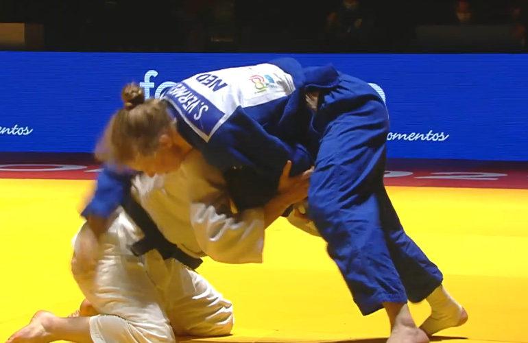 Bronzen plak voor Sanne Vermeer bij EK judo