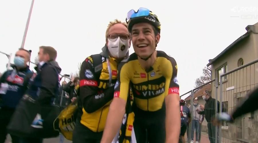 Wout van Aert wint Amstel Gold Race