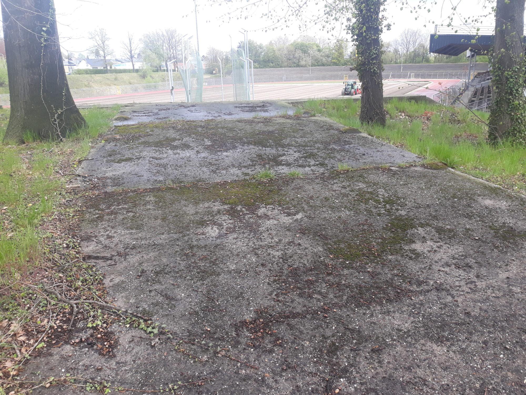 Oude ingang naar het oude stadion van Roda JC