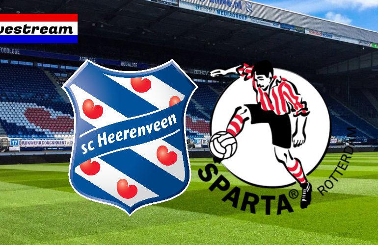 Eredivisie livestream SC Heerenveen - Sparta