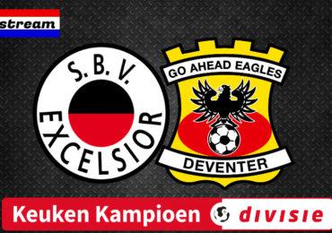 Excelsior - Go Ahead Eagles kijken via een livestream
