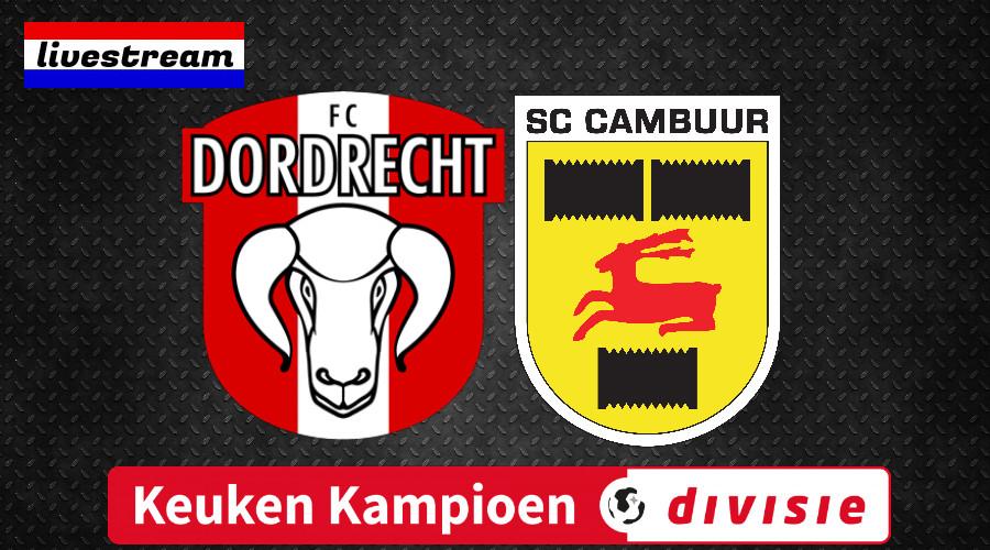 KKD livestream FC Dordrecht - SC Cambuur
