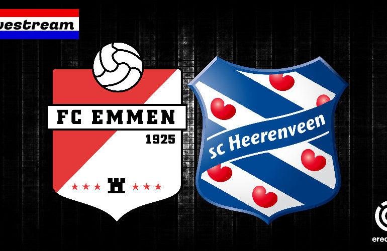 FC Emmen - SC Heerenveen gratis eredivisie livestream