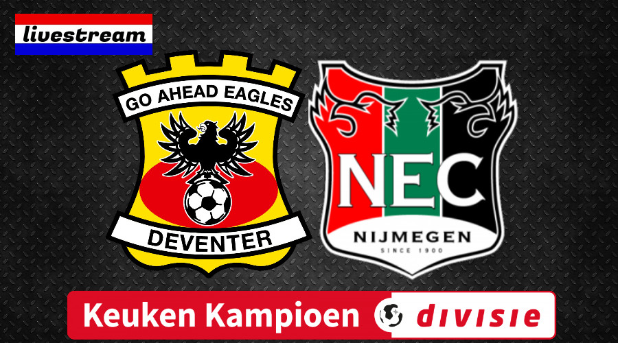 KKD livestream Go Ahead Eagles - NEC