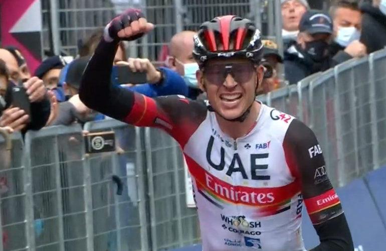 Dombrowski wint vierde etappe in de Giro