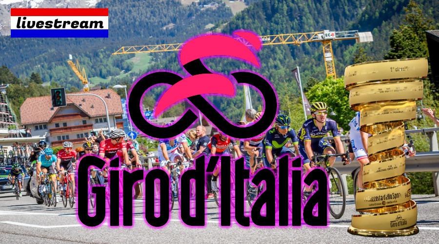 Kijk hier vandaag gratis Giro d'Italia via een live stream
